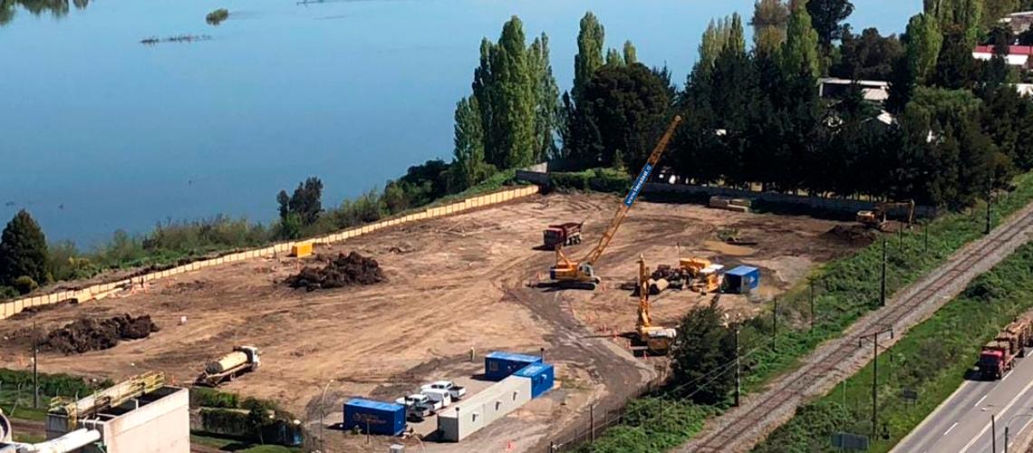 Adjudicación Mejoramiento de terreno y Muro Pantalla, CMPC