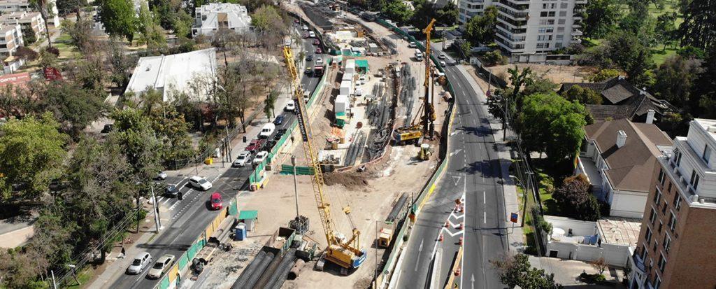 Avance trabajos Autopista Américo