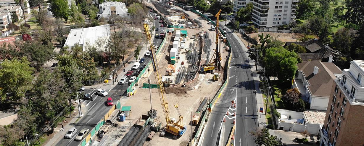 Avance trabajos Autopista Américo Vespucio Oriente AVO