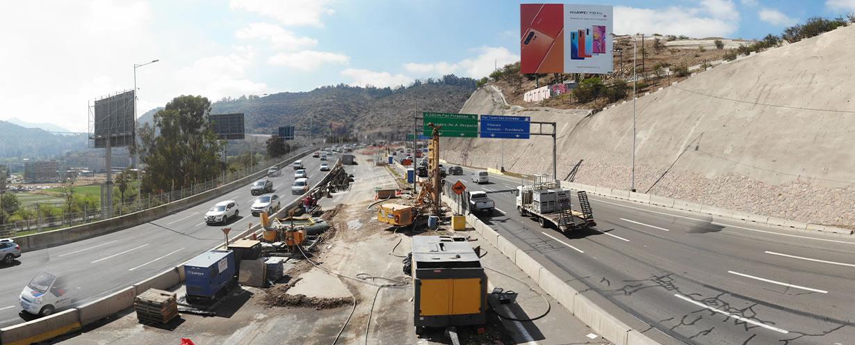 Micropilotes de fundación para Viaducto El Salto de la autopista AVO