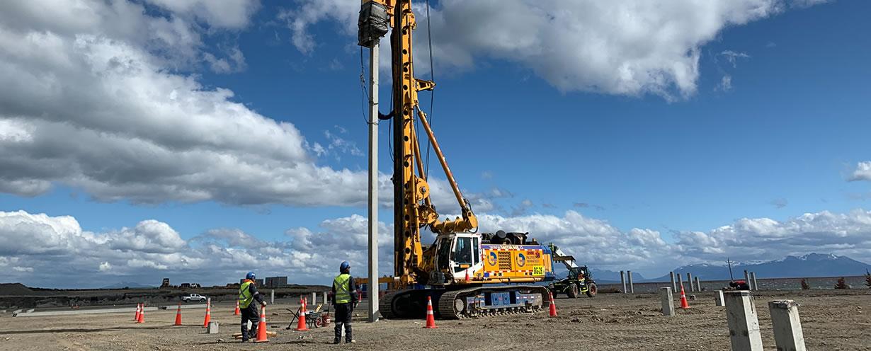 Innovamos en Pilotes Hincados, Australis Mar, Puerto Natales, Chile