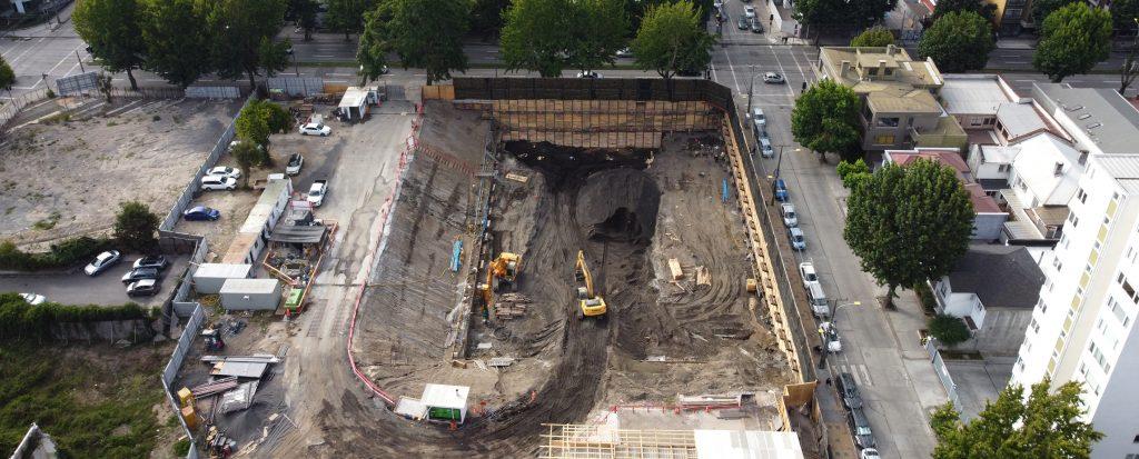 Contencion_excavacion_muro_berlines_eje_freire_concepcion_pilotes_terratest
